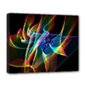 Aurora Ribbons, Abstract Rainbow Veils  Deluxe Canvas 20  x 16  (Framed) View1