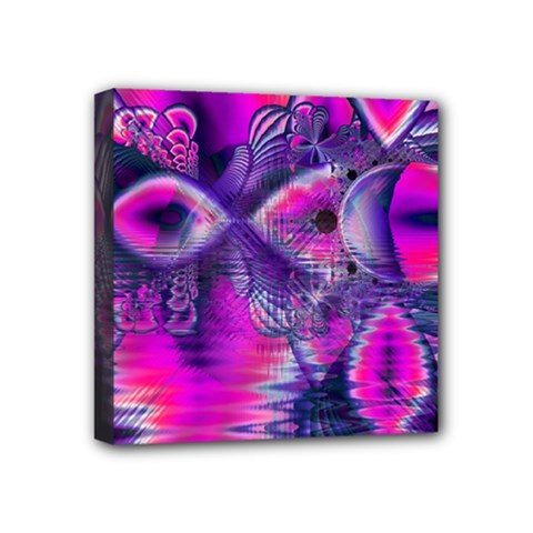 Rose Crystal Palace, Abstract Love Dream  Mini Canvas 4  X 4  (framed) by DianeClancy