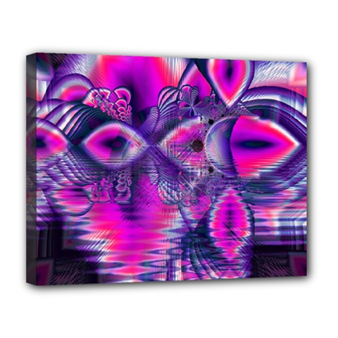 Rose Crystal Palace, Abstract Love Dream  Canvas 14  X 11  (framed) by DianeClancy