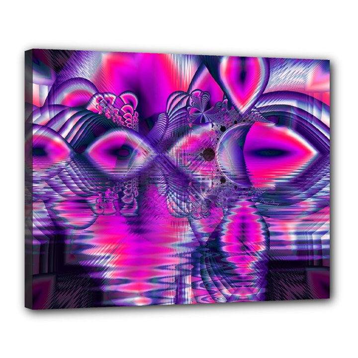 Rose Crystal Palace, Abstract Love Dream  Canvas 20  x 16  (Framed)