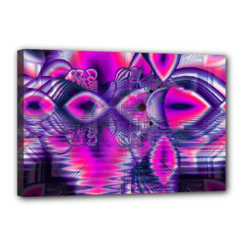 Rose Crystal Palace, Abstract Love Dream  Canvas 18  X 12  (framed) by DianeClancy