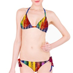 Conundrum I, Abstract Rainbow Woman Goddess  Bikini by DianeClancy