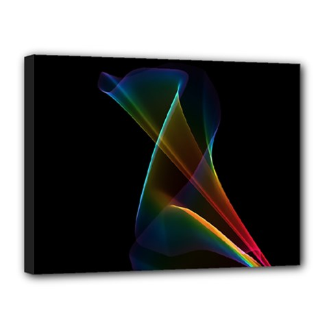 Abstract Rainbow Lily, Colorful Mystical Flower  Canvas 16  X 12  (framed) by DianeClancy