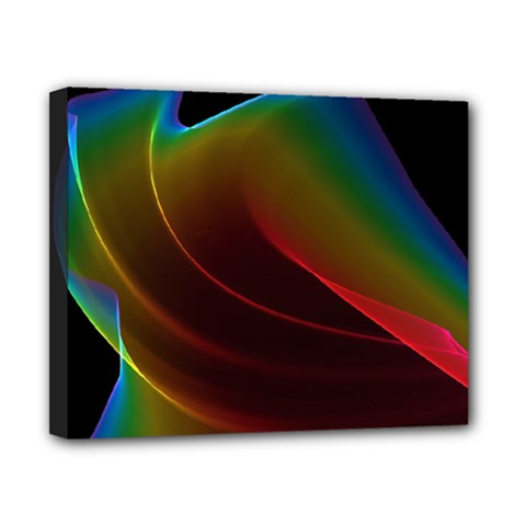 Liquid Rainbow, Abstract Wave Of Cosmic Energy  Canvas 10  X 8  (framed) by DianeClancy