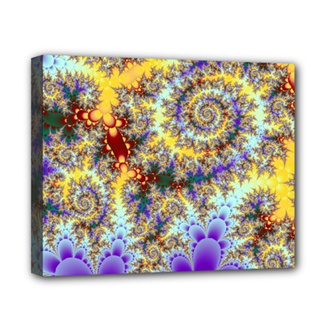 Desert Winds, Abstract Gold Purple Cactus  Canvas 10  X 8  (framed) by DianeClancy