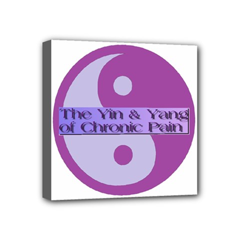 Yin & Yang Of Chronic Pain Mini Canvas 4  X 4  (framed) by FunWithFibro