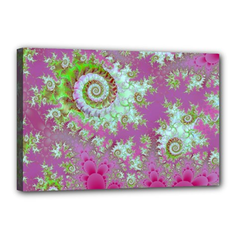 Raspberry Lime Surprise, Abstract Sea Garden  Canvas 18  X 12  (framed) by DianeClancy