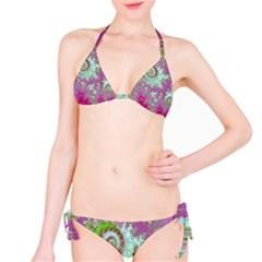 Raspberry Lime Surprise, Abstract Sea Garden  Bikini by DianeClancy