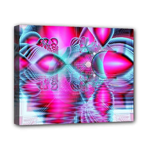 Ruby Red Crystal Palace, Abstract Jewels Canvas 10  X 8  (framed) by DianeClancy