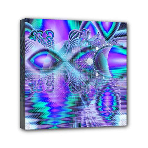 Peacock Crystal Palace Of Dreams, Abstract Mini Canvas 6  X 6  (framed) by DianeClancy