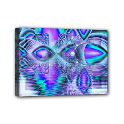 Peacock Crystal Palace Of Dreams, Abstract Mini Canvas 7  X 5  (framed) by DianeClancy
