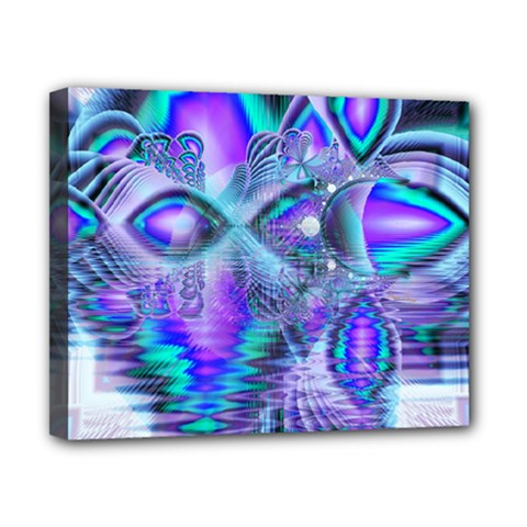 Peacock Crystal Palace Of Dreams, Abstract Canvas 10  X 8  (framed) by DianeClancy