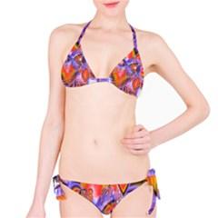 Crystal Star Dance, Abstract Purple Orange Bikini by DianeClancy