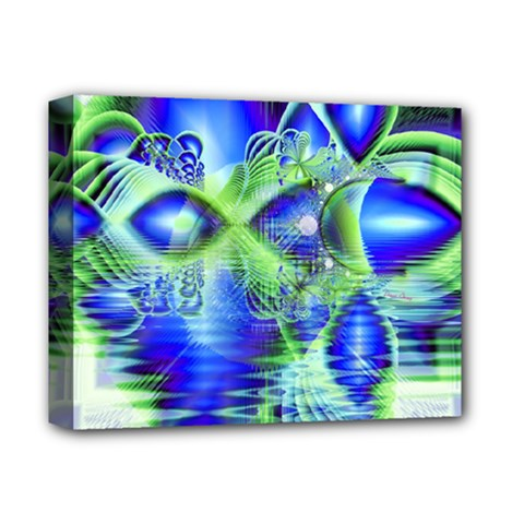 Irish Dream Under Abstract Cobalt Blue Skies Deluxe Canvas 14  X 11  (framed) by DianeClancy