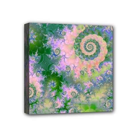 Rose Apple Green Dreams, Abstract Water Garden Mini Canvas 4  X 4  (framed) by DianeClancy