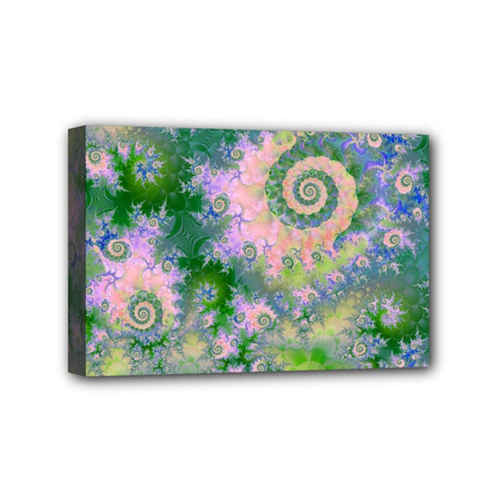 Rose Apple Green Dreams, Abstract Water Garden Mini Canvas 6  x 4  (Framed)