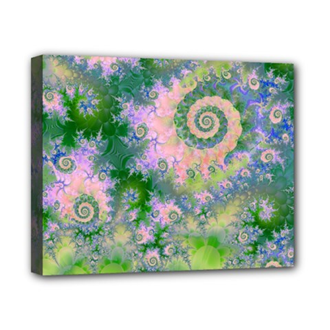 Rose Apple Green Dreams, Abstract Water Garden Canvas 10  X 8  (framed) by DianeClancy