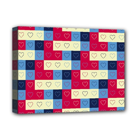 Hearts Deluxe Canvas 16  X 12  (framed)  by Siebenhuehner