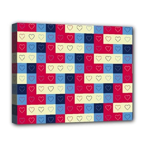 Hearts Deluxe Canvas 20  X 16  (framed) by Siebenhuehner