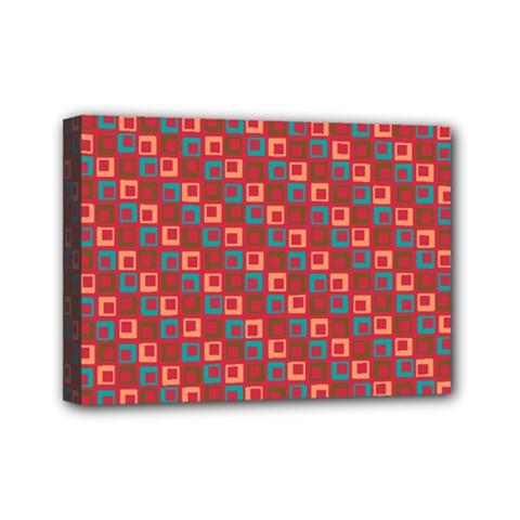 Retro Mini Canvas 7  X 5  (framed) by Siebenhuehner