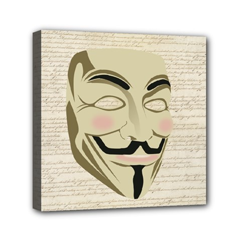 We The Anonymous People Mini Canvas 6  X 6  (framed)