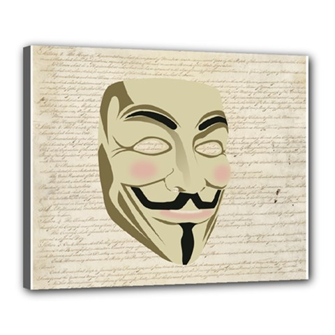 We The Anonymous People Canvas 20  x 16  (Framed) by StuffOrSomething