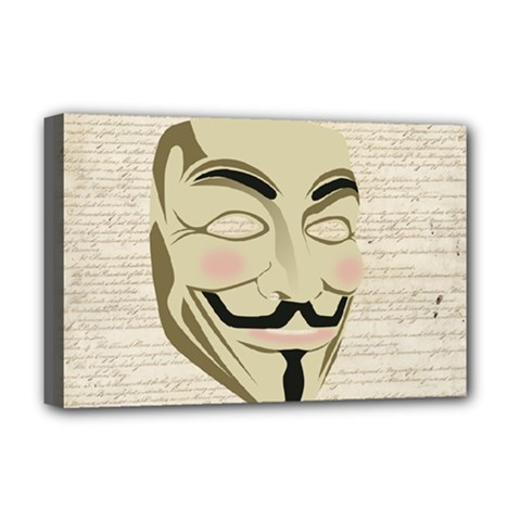 We The Anonymous People Deluxe Canvas 18  X 12  (framed) by StuffOrSomething