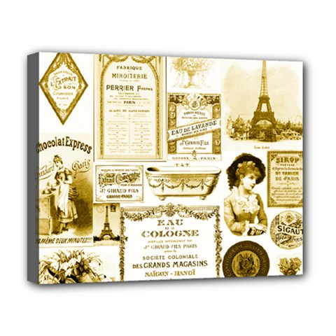 Parisgoldentower Deluxe Canvas 20  x 16  (Framed) by misskittys