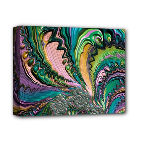 Special Fractal 02 Purple Deluxe Canvas 14  X 11  (framed) by ImpressiveMoments