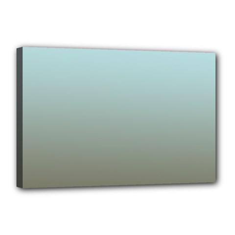 Blue Gold Gradient Canvas 18  X 12  (framed) by zenandchic