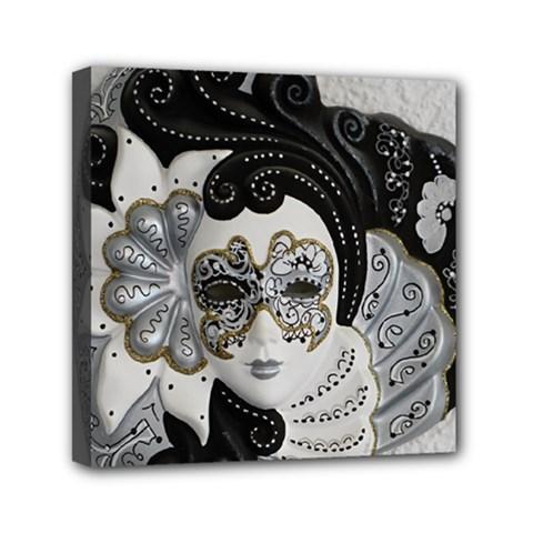 Venetian Mask Mini Canvas 6  X 6  (framed) by StuffOrSomething