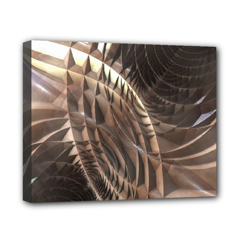 Copper Metallic Canvas 10  X 8  (stretched) by CrypticFragmentsDesign