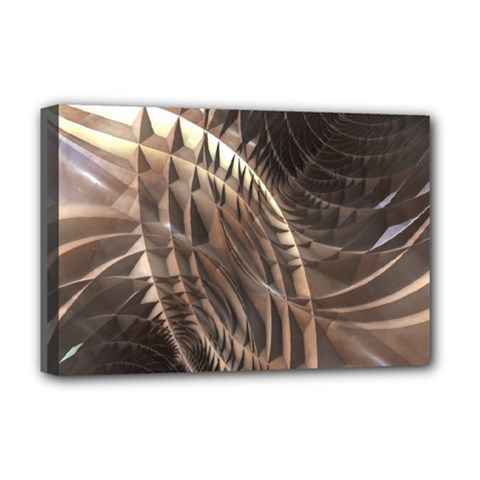 Copper Metallic Deluxe Canvas 18  X 12  (stretched) by CrypticFragmentsDesign