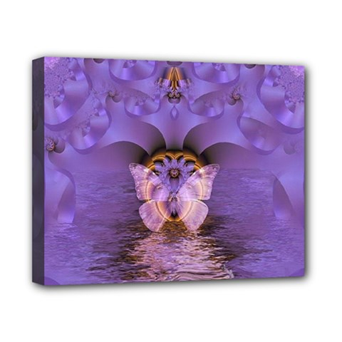 Artsy Purple Awareness Butterfly Canvas 10  X 8  (framed) by FunWithFibro
