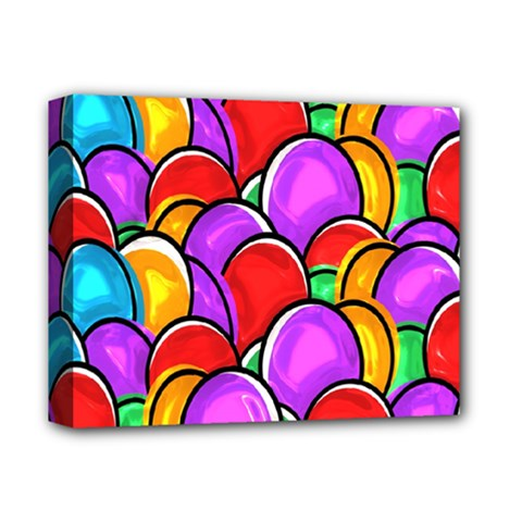 Colored Easter Eggs Deluxe Canvas 14  X 11  (framed) by StuffOrSomething