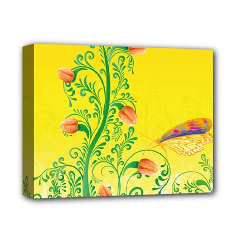Whimsical Tulips Deluxe Canvas 14  X 11  (framed) by StuffOrSomething