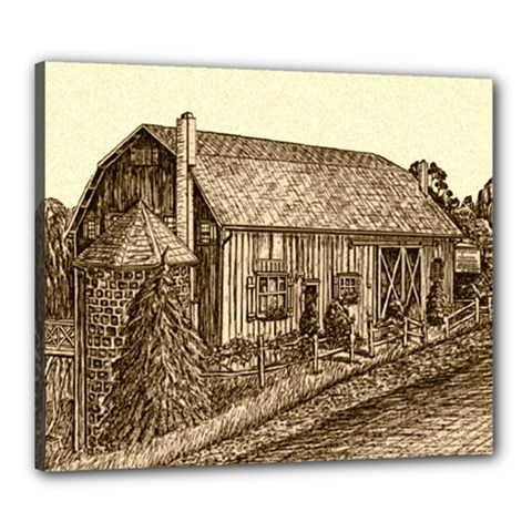 Sugarcreek Barn - Ave Hurley - Canvas 24  x 20  (Stretched)