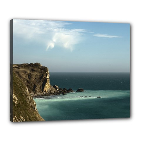 Dramatic Seaside Picture Canvas 20  X 16  (stretched) by NoemiDesign