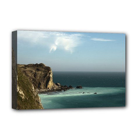 Dramatic Seaside Picture Deluxe Canvas 18  X 12  (stretched) by NoemiDesign