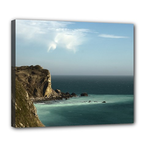 Dramatic Seaside Picture Deluxe Canvas 24  X 20  (stretched) by NoemiDesign