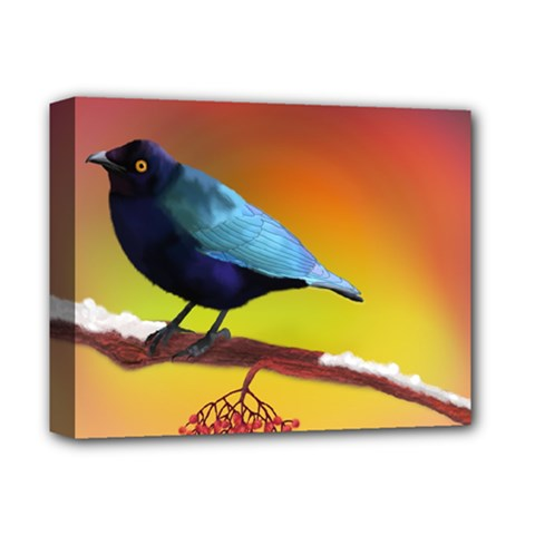 The Blue Bird Deluxe Canvas 14  X 11  (stretched) by NoemiDesign