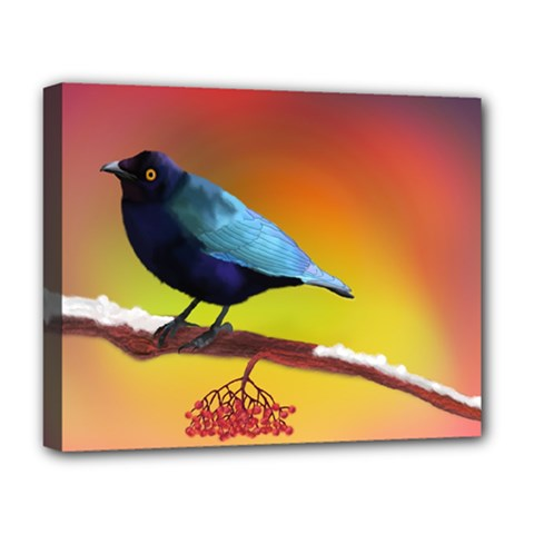 The Blue Bird Deluxe Canvas 20  X 16  (stretched) by NoemiDesign