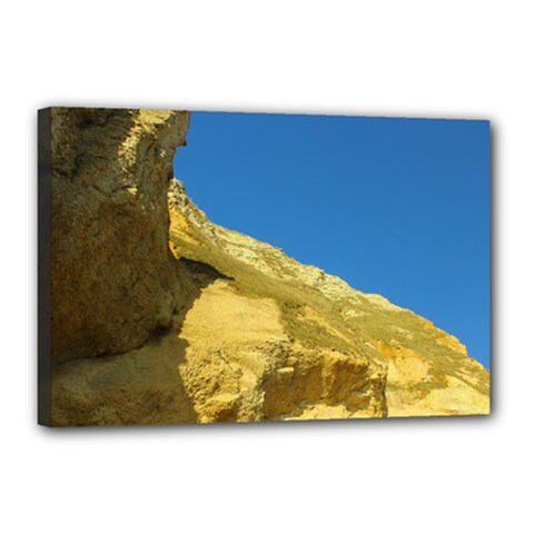 Rock Canvas 18  X 12  (framed) by NoemiDesign