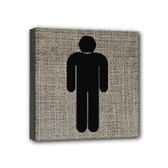 men restroom - Mini Canvas 4  x 4  (Stretched)