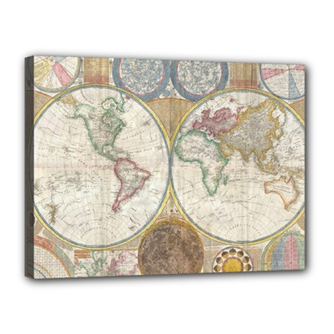 1794 World Map Canvas 16  X 12  (framed) by StuffOrSomething
