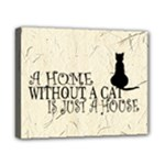 Home without a Cat - Canvas 10  x 8  (Stretched)