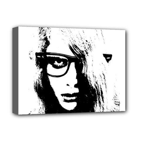 Hipster Zombie Girl Deluxe Canvas 16  x 12  (Framed)