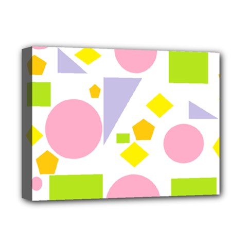 Spring Geometrics Deluxe Canvas 16  X 12  (framed)  by StuffOrSomething