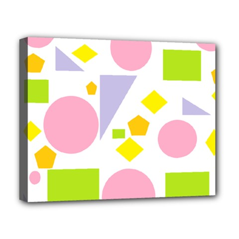 Spring Geometrics Deluxe Canvas 20  X 16  (framed) by StuffOrSomething