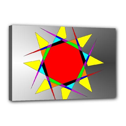 Star Canvas 18  X 12  (framed) by Siebenhuehner